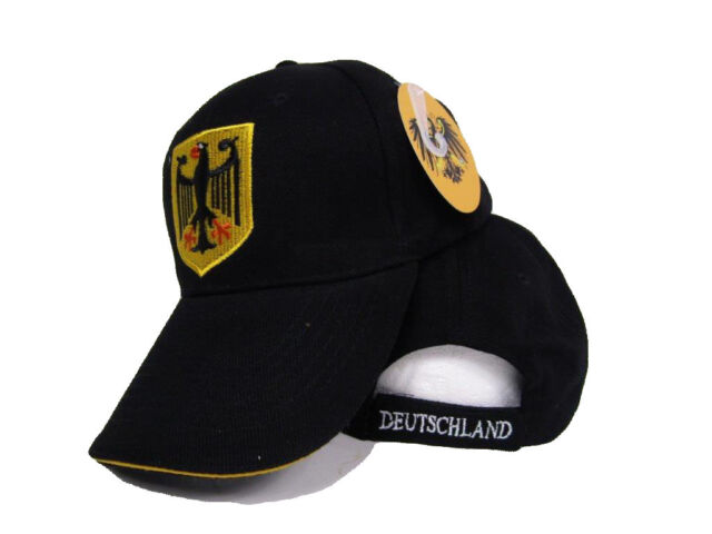 Germany German Eagle Deutschland Black Baseball Hat Ball Cap 3D embroidered ed14c12219f