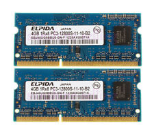 2X4GB 1Rx8 PC3-12800 DDR3 1600MHz SODIMM LAPTOP MEMORY Elpida 8GB