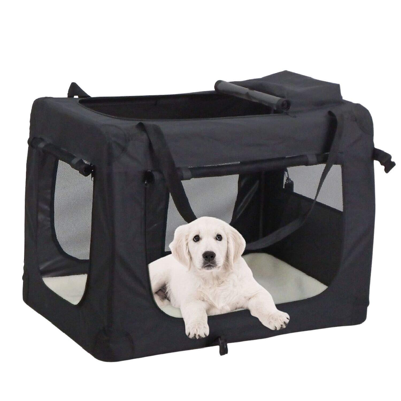 Leichte Transportbox für Haustiere mit Fleece-Matte tragbar faltbar