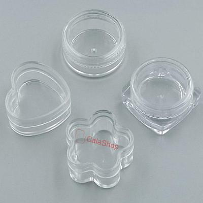 3g Cosmetic Empty Clear Pots Eyeshadow Lip jar Balm Nail Glitter Dust Container