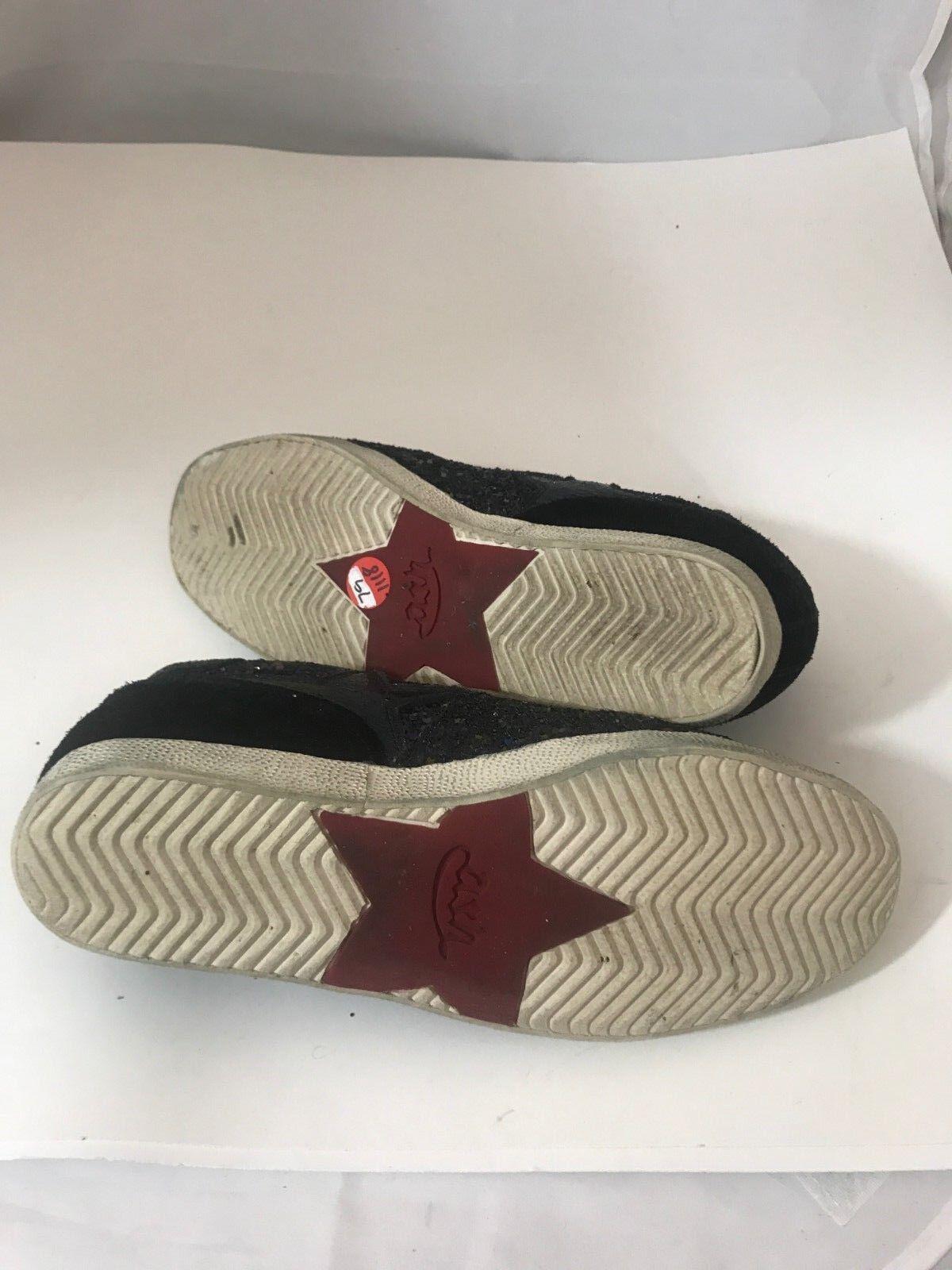 ASH 791118 nero SOFTLY SOFTLY SOFTLY GLITTER SUEDE GEUPARD scarpe da ginnastica SZ 39 08211b