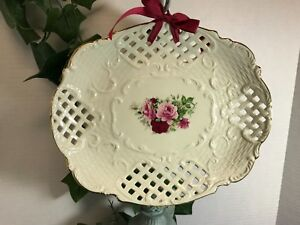 Formalities-by-Baum-Brothers-Lattice-Tray-11-5x9-75-Oval-Victorian-Rose
