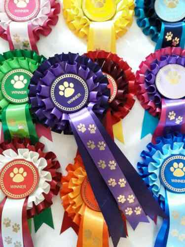 pack of 5 Puppy show Special Dog Winner dog party rosettes Well Done