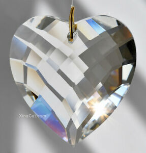 Heart-50mm-Crystal-Clear-Matrix-Faceted-Prism-Pendant-SunCatcher-2-inch