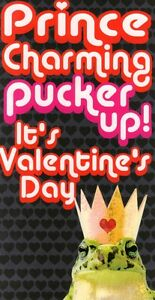 Prince-Charming-Pucker-Up-Funny-Frog-Valentines-Card-Joke-Valentine-039-s-Day-Cards
