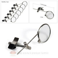 (6) Loopy Loupe 4x Power Magnifers Single Lens Magnifying Glass Clip On Glasses