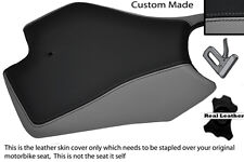GREY AND BLACK CUSTOM FITS APRILIA RS4 125 11-12 FRONT LEATHER SEAT COVER
