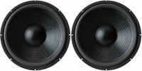 15 (2) Subwoofer Replacement Speakers.8 Ohm Home Audio Woofers.bass Pair