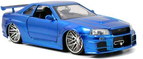 R34 JAD97173 Jada 1:24 Fast /& Furious Brians Nissan Skyline GT-R