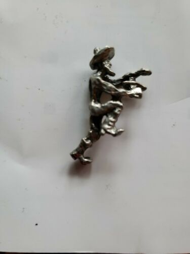 Rare Vintage Miniature Boyd Perry Pewter Figurines Gold Miner