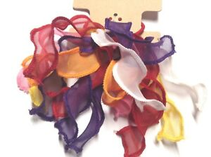 Gymboree-Crazy-8-Multi-Color-Ponytail-Holder-NWT-Girl-Hair-Cloth-School-Out-Red