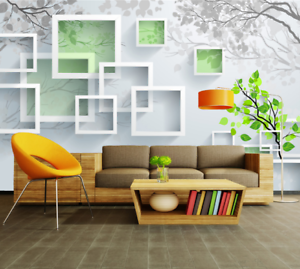 3D Green Art Frames 73 Wall Paper Murals Wall Print Wall Wallpaper Mural AU Kyra