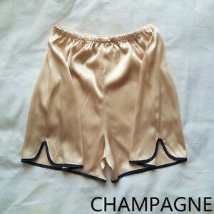 Women-Satin-Knickers-Shorts-Panties-Underpants-Underwear-Sleepwear-Elastic-Waist