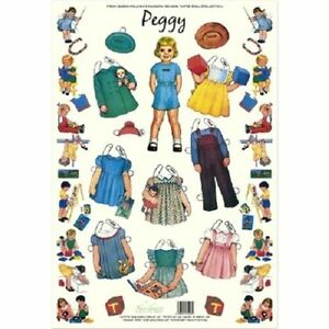 Shackman Peggy Queen Holden'S Nursery School Paper Doll & Clothes Set #Shk-32