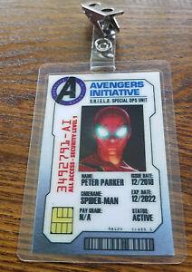Avengers-Infinito-Guerra-Identificacion-Badge-Peter-Parker-Spider-Man-Disfraz