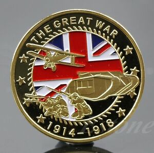 Gold-Plated-The-Great-War-Commemorative-Coin-Collection-Colored-Collective