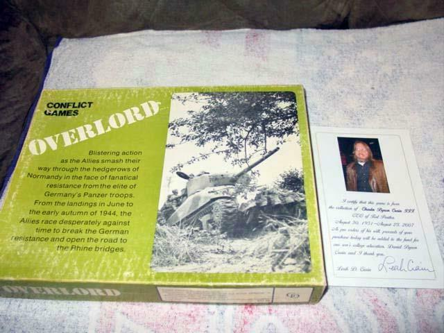 Conflict  giocos 1977 - OVERLORD - The Noruomody Campaign gioco - Crain Collection  Senza tasse