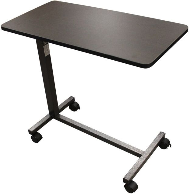 Adjustable Bedside Over The Bed Hospital Table Wheelchair Tray