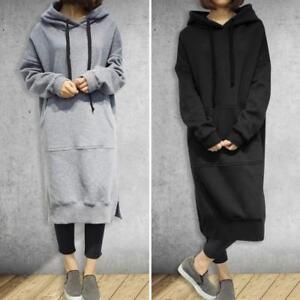 cd4db559032 Women s Long Sleeve Loose Casual Plus Sweatshirt Hoodies Ladies Long ...