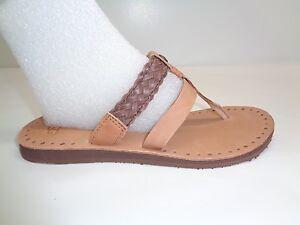 fcc94022823 UGG Australia Size 6 AUDRA Chocolate Leather Braid Sandals New ...