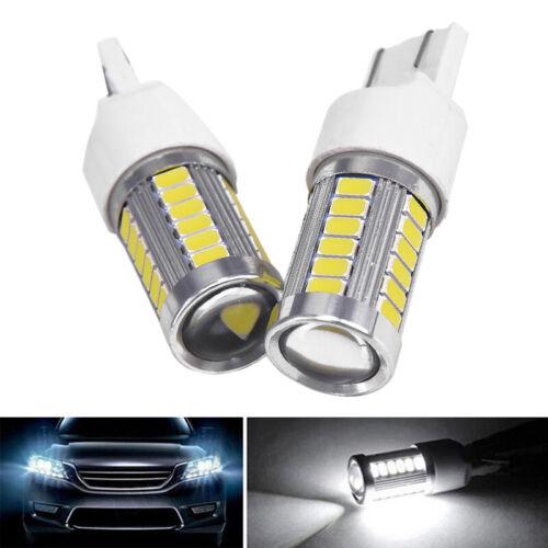 2X 6000K White T20 W21W 7443 7440 5630 33SMD LED Dome Map Car Reverse Lights b