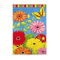 House Garden Flag 12.5 X 18 bright Gerber Daisies From Evergreen Sealed