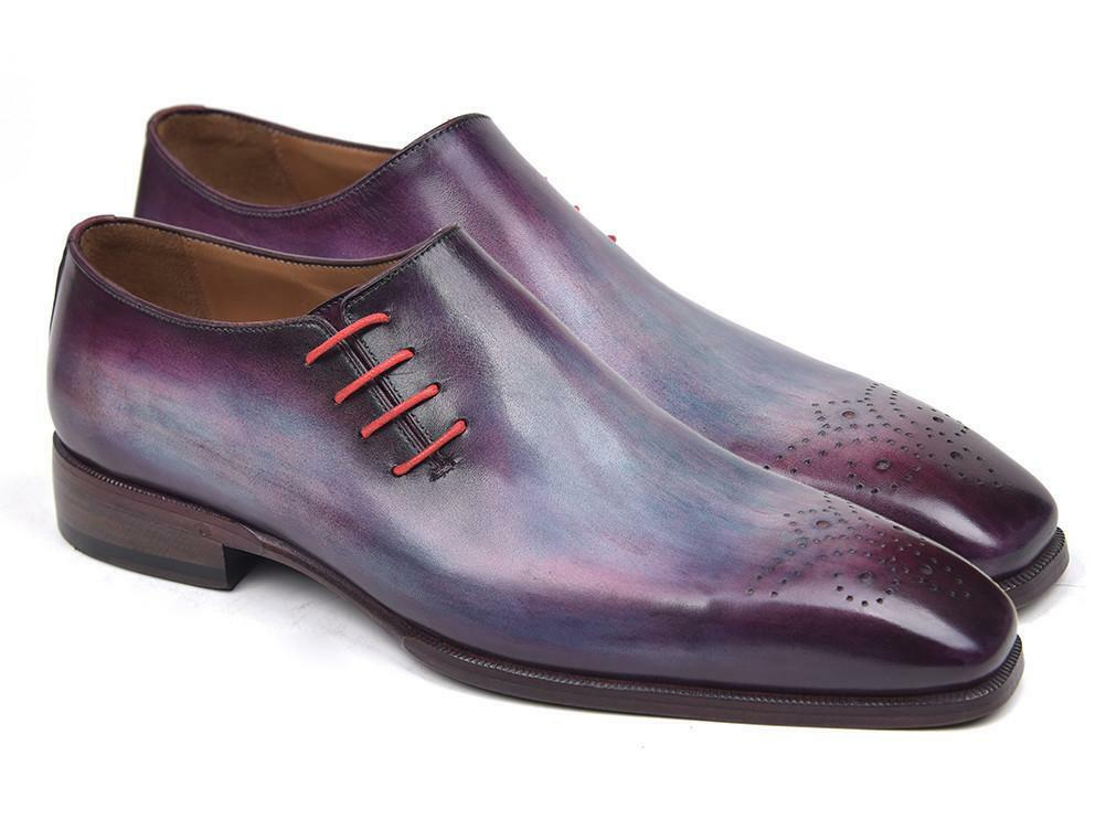 Paul Parkman Side Lace Oxfords Purple (ID#901F89) Scarpe classiche da uomo
