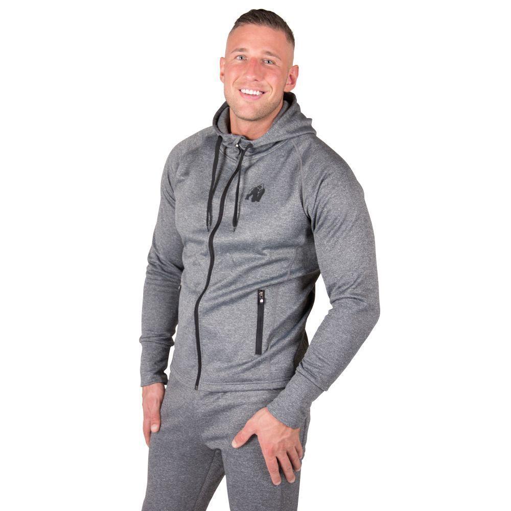 Gorilla Wear Bridgeport con Zip Felpa con cappuccio scuro grigio