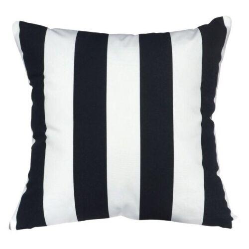 "Size 18/"" x 18/"" OR 45 X 45 CM 100/% Cotton Black /& White Striped Cushion Covers"