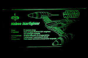 Custom-LED-Display-stand-PLAQUE-for-lego-75092-7877-7141-7660-Naboo-fighter