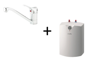 Warmwasserspeicher-Boiler-Untertischgeraet-5-L-Gorenje-Niederdruckarmatur-Set