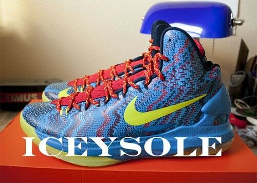 Nike Zoom KEVIN DURANT KD V 5 CHRISTMAS BLUE ATOMIC GREEN RED 554988-401 DS 10.5 Special limited time