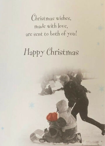 Free And Fast P/&P Xmas Card Lovely Card To Both Of You Christmas Wishes