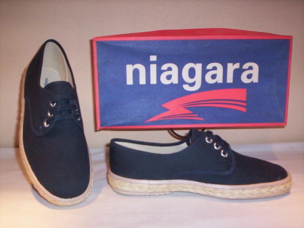 zapatillas deportivas suela n. Niagara zapatos hombres lona azul cordones n. suela 40 43 9ec046