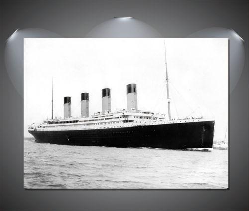 The Titanic Ship Departing Vintage CANVAS Art Print A0 A1 A2 A3 A4