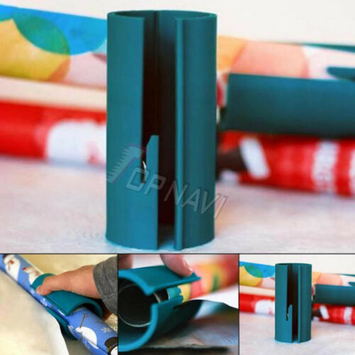 Wrapping Paper Cutting Sliding XMAS Gift Present Wrap Packing Roll Cutter Tool