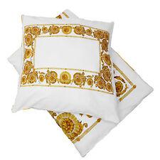 Bettwäsche Weiß Mäander Medusa Klassisch Baumwolle Bettbezug Set 2 tlg versac
