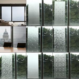 waterproof frosted privacy bedroom bathroom window glass film sticker