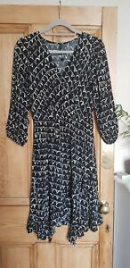 Aleah-Dress-ANTHROPOLOGIE-size-PETITE-SMALL-BLACK-amp-WHITE-brand-new-amp-unworn