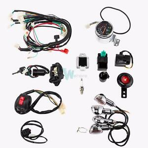 full electric start engine wiring harness loom for 49 50 80 90 100 rh ebay com chinese 125cc atv wiring diagram 125cc quad wiring diagram