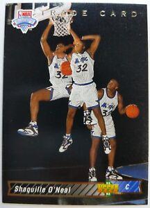 Rare-1993-93-Upper-Deck-NBA-Draft-Shaquille-O-039-Neal-Rookie-RC-1b-Trade-Card