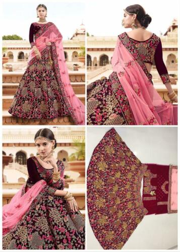 Details about  /BOLLYWOOD INDIAN BRIDAL LEHENGA CHOLI DESIGNER WEDDING LEHENGA ETHNIC PARTY WEAR