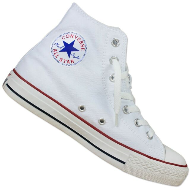 Converse All Star Mens Womens Unisex High Tops Chuck Taylor Trainers Blanc optique EUR 35