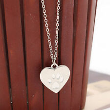 Fashion Love Paw Claw Print Silver Long Pendant Necklace Jewelry Gift