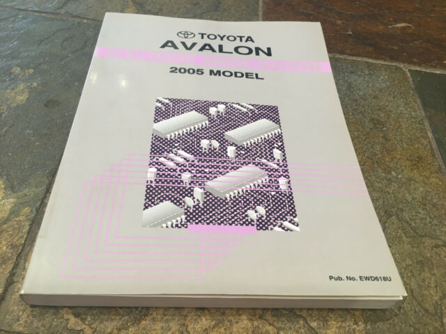 2005 Toyota Avalon Wiring Diagrams Electrical Service Manual