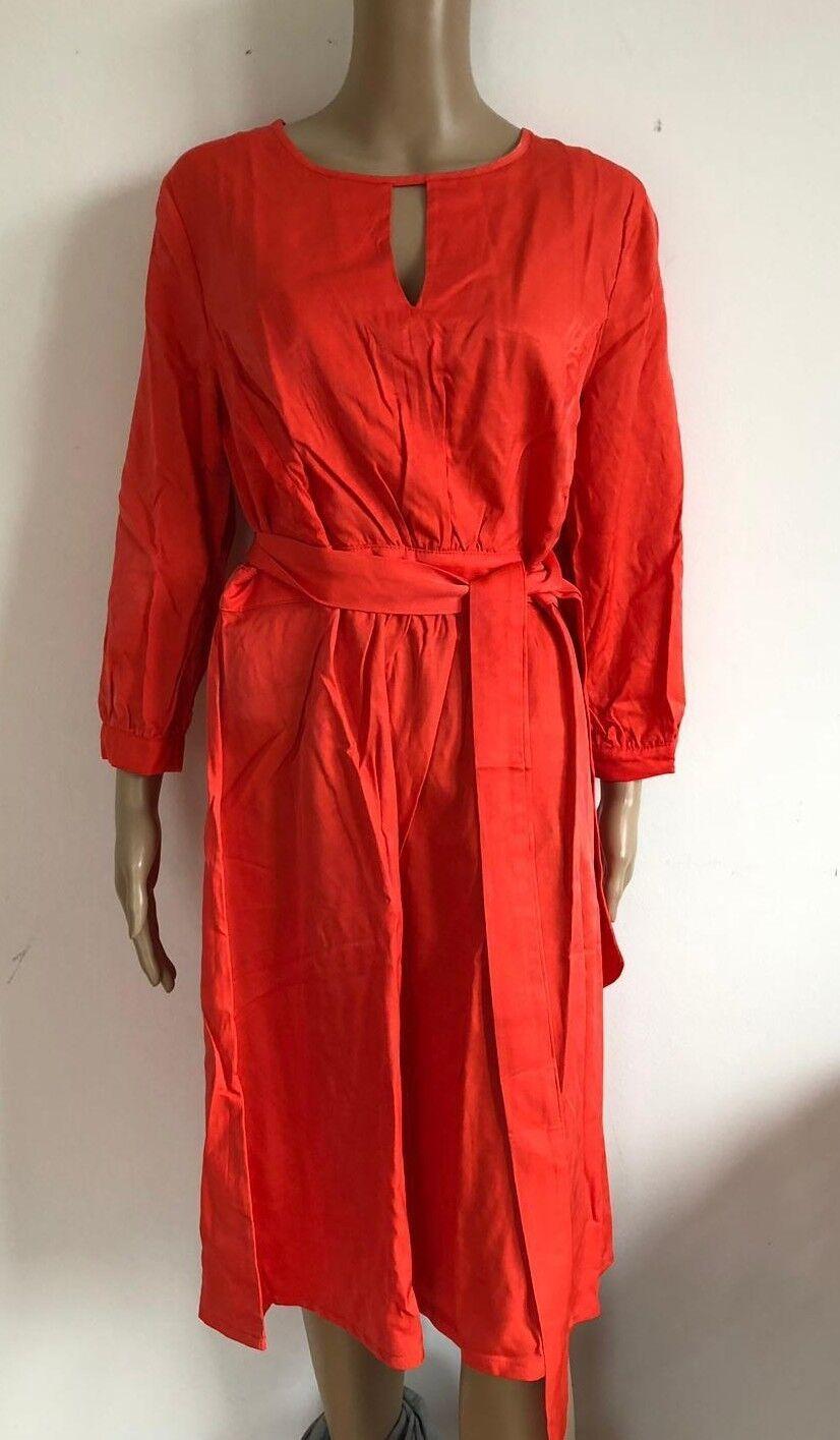 SIENNA SIENNA SIENNA - tolles Kleid in Orange rot NEU- Gr 36 S 2982ok | Günstigen Preis  | Neuartiges Design  | Hochwertig  77b8c2