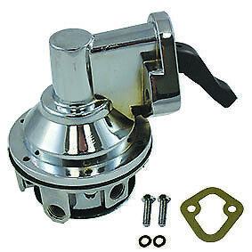 BBC Chevy HV Replacement Chrome Mechanical Fuel Pump 396 427 454 With Bolts V8