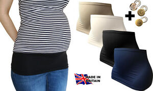 BUMP-BELLY-BANDS-FOR-MATERNITY-SIZE-XS-S-M-L-amp-XL-ONE-EXTENDER-BUTTON-UK-Made