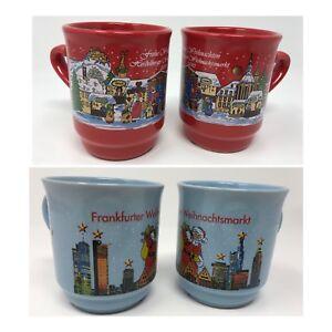 Weihnachtsmarkt L.Details About German Christmas Market Coffee Lot Of 4 Glühwein Mugs Frankfurt Heidelberg 0 2l