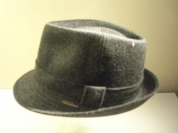 Vintage Uomo Cappello Grigio Scuro Wegener Tgl 54